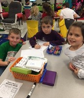 Collaboration between Kinders and 2nd graders