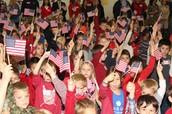 Flag Raising First Graders