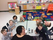 Having a great time learning about colors!