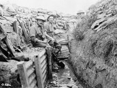 British Soldiers in a trench in France