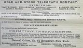 Junto a la Gold & Stock Telegraph Company