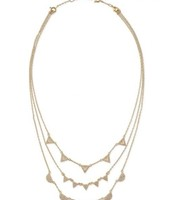 Pave chevron necklace in gold
