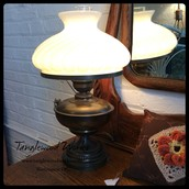 Antique Hurricane Lamp - $125