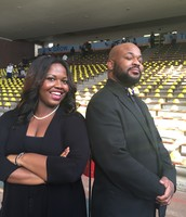 Ms. I. Kelly (Choral Director) and Mr. Morris (Band Director)