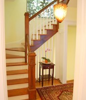 Light filled entry with grand staircase