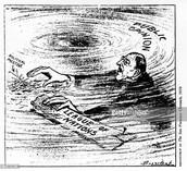 Political Cartoon of Woodrow Wilson