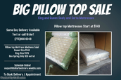 SAME DAY DELIVERY AVAILABLE! LET US DELIVER YOUR NEW BED!
