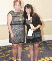Agnes Rivera-Garza & Jessica, YELL!Scholarship Recipient