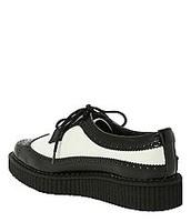 los la marca Hot Topic cuero negro y blanco zapatos