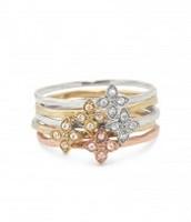 Moraley Flower Stackable Rings