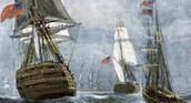 British make blockades to stop trade and traveling