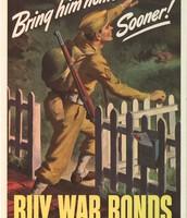 War Bonds during WW2.