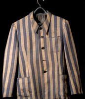 prisoner uniform at Auschwitz camp