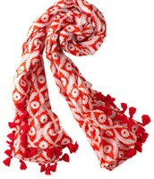 *SOLD EG* Capri Cotton Wrap - Geranium Floral - $20