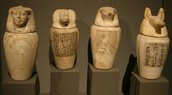 The jars that held the mummy's organs