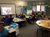 Mystery Number Skype with Miss Kinney's 2nd Grade Class