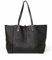 Paris Market Tote-Black Leather