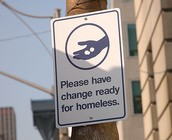 Homeless Street Sign