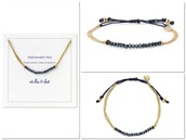 Courage bracelet - Navy and gold