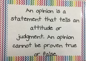 An opinion is