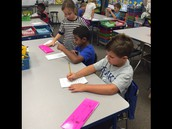 Writers in action!