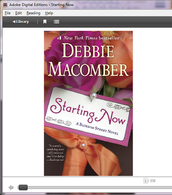 When finished downloading, the book will open in Adobe Digital Editions.