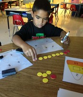 Using counters to find the missing number!
