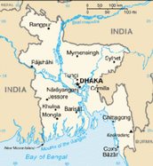 Present-day Bangladesh