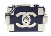 Chanel Black and Gold lego Clutch Bag