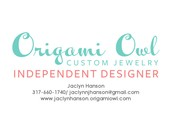 Jaclyn Hanson, Origami Owl Independent Designer