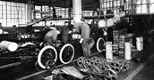 The Model T assembly line