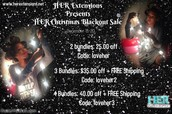 HER CHRISTMAS BLACKOUT SALE (December 13-20 )