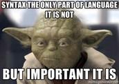 Understadning the language used