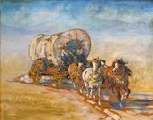 How did pioneers travel on the trail back then?