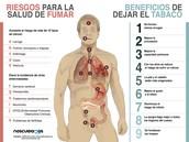 Efectos del tabaco en la salud.