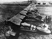 1916- Germans ruled the sky with fighter planes