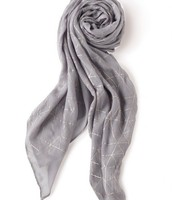 Dove grey Westwood scarf