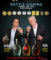 Number Juan Tequila Bottle Signing with Ron White