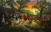 Colonists in Roanoke