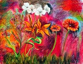 This is another painting, a flower painting!