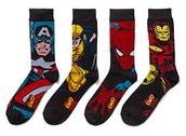 calcetines de superhéroes