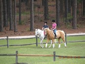 (Right-Left) Sami, Me on Lady my third horse