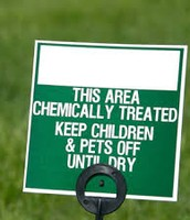 chemical use on lawns