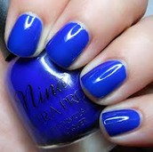 Nail polish made from cobalt.