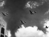 japanese planes fly in.