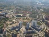 Vista aérea de Crystal Park y Parc Central