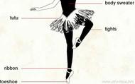 Diagram of ballet clothes