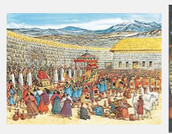 Drawing of Inca peoples