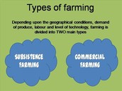 Types of farming-