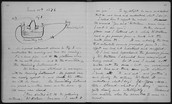 Bell's laboratory notebook describing the telephone.